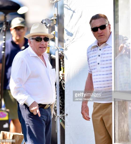 Martin Scorsese and Robert De Niro seen on location for 'The Irishman' on September 25 2017 in Huntington Station New York