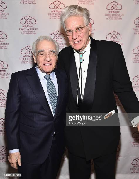 Martin Scorsese and Robert Thurman attend the The Art Of Freedom Award at Tibet House US on December 10 2018 in New York United States