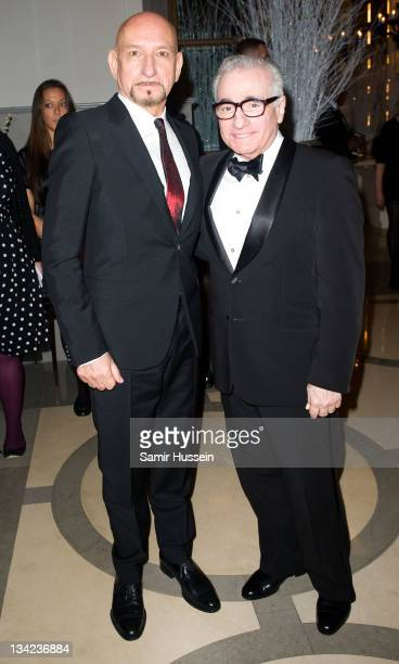 Martin Scorsese and Sir Ben Kingsley attend the after party for the Royal film performance of Hugo in 3D at the Corinthia Hotel on November 28 2011...