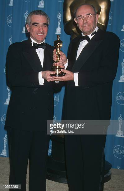 Martin Scorsese and Stanley Donen during 1998 Vanity Fair Oscar Party Arrivals at Morton's Restaurant in Beverly Hills California United States