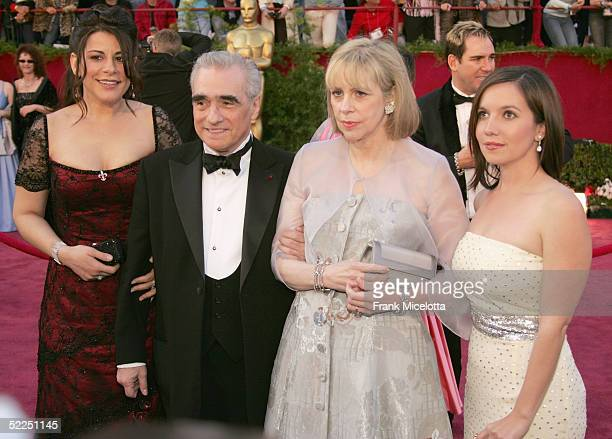 Martin Scorsese and wife Helen Morris arrive the 77th Annual Academy Awards at the Kodak Theater on February 27 2005 in Hollywood California