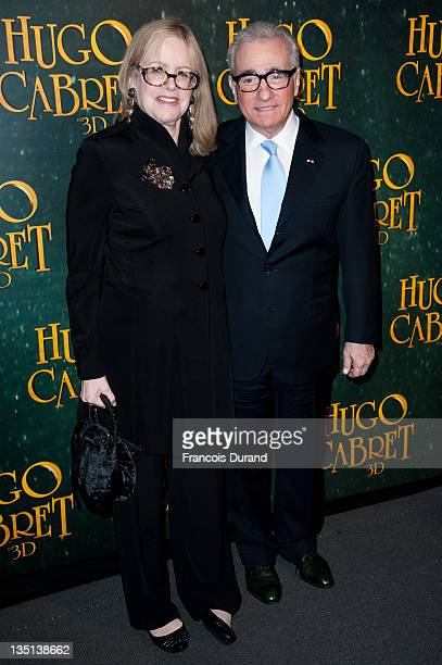 Martin Scorsese and wife Helen Morris attend 'Hugo Cabret 3D' premiere at Cinema UGC Normandie on December 6 2011 in Paris France