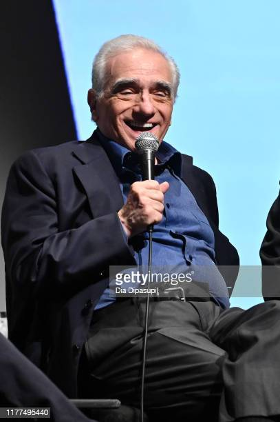 Martin Scorsese at The Irishman press conference during the 57th New York Film Festival at Alice Tully Hall Lincoln Center on September 27 2019 in...
