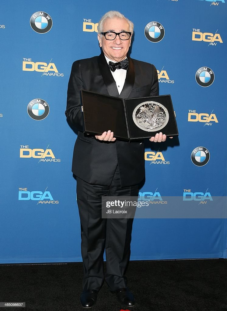 Martin Scorsese attends the 66th Annual Directors Guild Of America Awards - Press Room at the Hyatt Regency Century Plaza on January 25, 2014 in Century City, California.