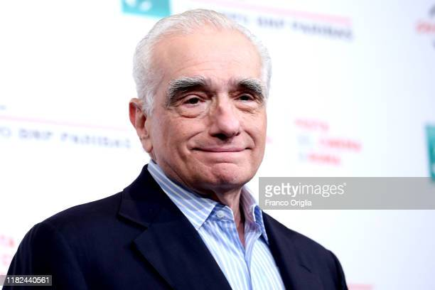"Martin Scorsese attends the photocall of the movie ""The Irishman"" during the 14th Rome Film Festival on October 21, 2019 in Rome, Italy."