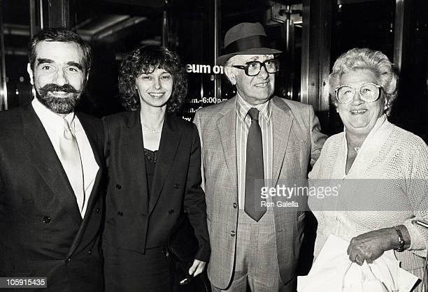 Martin Scorsese Barbara De Fina Charles Scorsese and Catherine Scorsese
