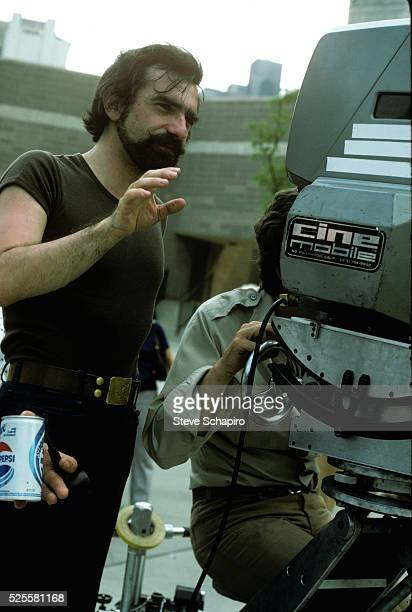 Martin Scorsese behind the camera on the set of Taxi Driver