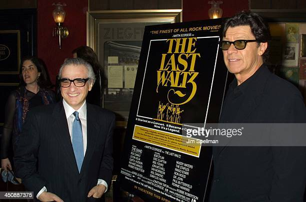 Martin Scorsese, director, and Robbie Robertson of The Band