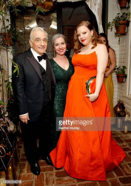 Martin Scorsese, Domenica Cameron-Scorsese and Francesca Scorsese attends the 2020 Netflix Oscar After Party at San Vicente Bugalows on February 09,...