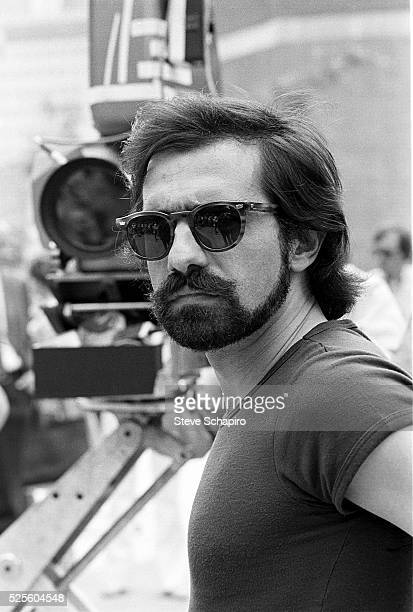 Martin Scorsese during the filming of Taxi Driver