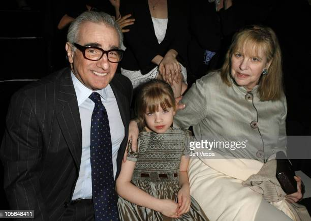 Martin Scorsese Helen Morris and daughter Francesca