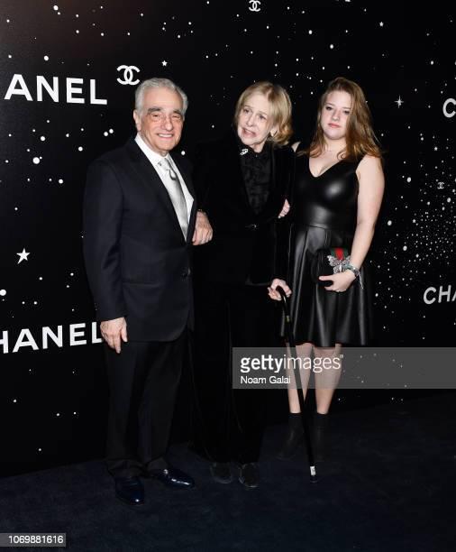 Martin Scorsese Helen Morris and Francesca Scorsese attend the 2018 Museum of Modern Art Film Benefit A Tribute To Martin Scorsese at Museum of...