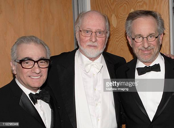 Martin Scorsese John Williams and Steven Spielberg *Exclusive* FOR EDITORIAL USE ONLY
