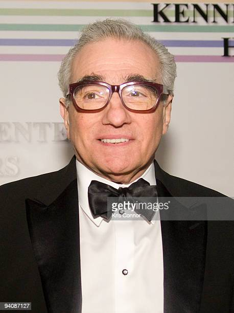 Martin Scorsese poses for photographers on the red carpet before the 32nd Kennedy Center Honors at Kennedy Center Hall of States on December 6 2009...