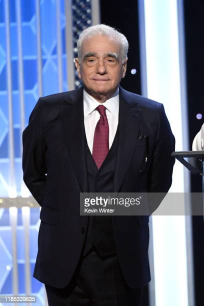 Martin Scorsese presents the Hollywood Producer Award onstage during the 23rd Annual Hollywood Film Awards at The Beverly Hilton Hotel on November...