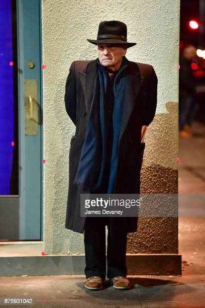 Martin Scorsese seen on location for 'The Irishman' on the Lower East Side on November 17 2017 in New York City