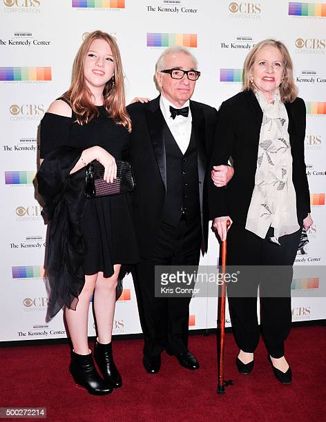 Martin Scorsese with wife Helen Schermerhorn Morri arrive at the 38th Annual Kennedy Center Honors Gala at the Kennedy Center for the Performing Arts...