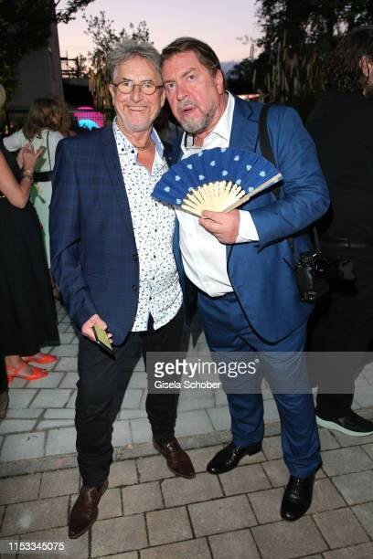 Martin Semmelrogge and Armin Rohde during the Bavaria Film Reception One Hundred Years in Motion on the occasion of the 100th anniversary of the...