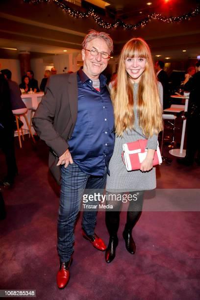 Martin Semmelrogge and his daughter Joanna Semmelrogge attend the Movie Meets Media night at Grand ElysÈe Hamburg on December 3, 2018 in Hamburg,...