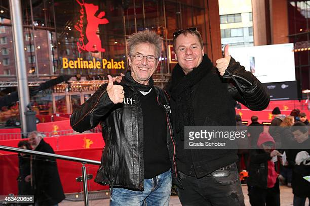 Martin Semmelrogge and his son Dustin pose during the 65th Berlinale International Film Festival on February 13 2015 in Berlin Germany
