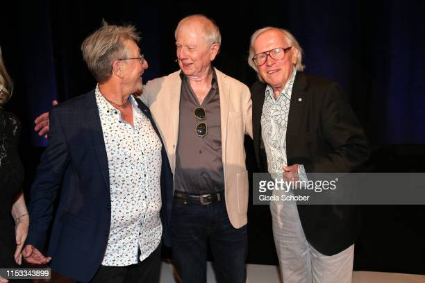 Martin Semmelrogge Director Wolfgang Petersen and Klaus Doldinger during the Bavaria Film Reception One Hundred Years in Motion on the occasion of...