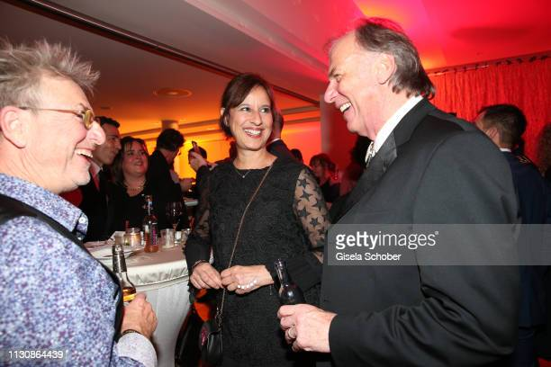 Martin Semmelrogge Wolfgang Fierek and his wife Djamila Mendil during the 3rd Carl Laemmle Producer Award at Kulturhaus Laupheim on March 15 2019 in...