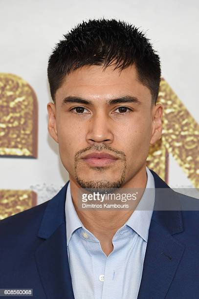 Martin Sensmeier attends The Magnificent Seven premiere at Museum of Modern Art on September 19 2016 in New York City