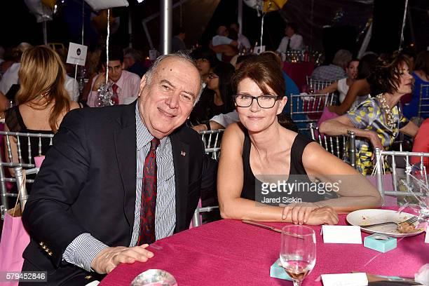 Martin Shafiroff and Anna ThroneHolst attend Ellen Hermanson Foundation Starry Night Gala on July 23 2016 in Southampton New York