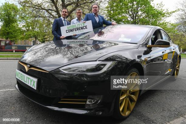 Martin Shanahan CEO of Industrial Development Authority Philip McNamara organiser of MobilityX conference and VP of Voxpro and Dan Kiely CEO amp Co...