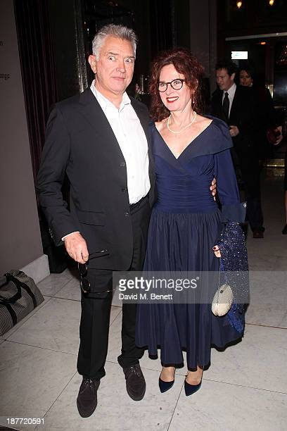 Martin Shaw and karen da Silva attend an after party following the press night performance of Twelve Angry Men on November 11 2013 in London England
