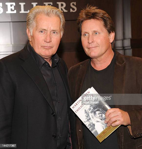 Martin Sheen and Emilio Estevez appear to promote their new book Along The Way at Barnes Noble bookstore at The Grove on May 11 2012 in Los Angeles...