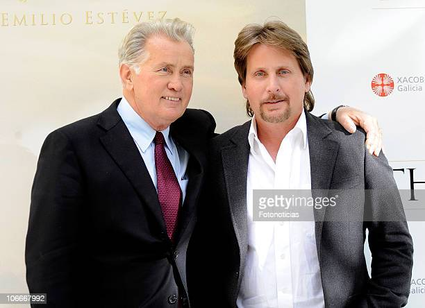 Martin Sheen and Emilio Estevez attend 'The Way' photocall at The Ritz hotel on November 10 2010 in Madrid Spain