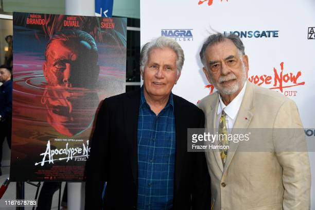 """Martin Sheen and Francis Ford Coppola attend the LA Premiere Of Lionsgate's """"Apocalypse Now Final Cut"""" at ArcLight Cinerama Dome on August 12, 2019..."""