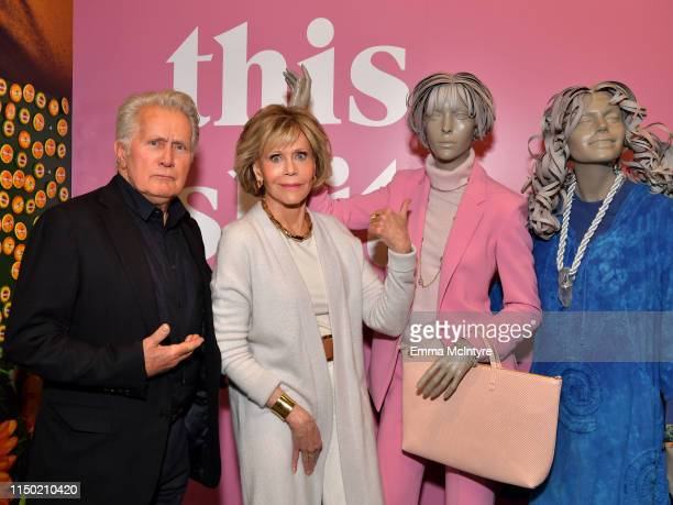 Martin Sheen and Jane Fonda attends the Netflix FYSEE Grace and Frankie ATAS Official Red Carpet and Panel at Raleigh Studios on May 18 2019 in Los...