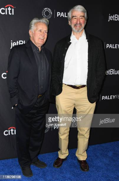 Martin Sheen and Sam Waterston attend The Paley Center For Media's 2019 PaleyFest LA Grace And Frankie at Dolby Theatre on March 16 2019 in Hollywood...