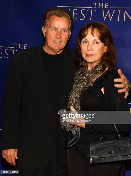 """Martin Sheen and wife Janet during """"The West Wing"""" 100th Episode Celebration at Four Seasons Hotel in Los Angeles, California, United States."""