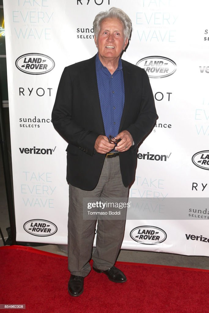 Martin Sheen attends the Premiere of Sundance Selects' 'Take Every Wave: The Life Of Laird Hamilton' at ArcLight Hollywood on September 27, 2017 in Hollywood, California.
