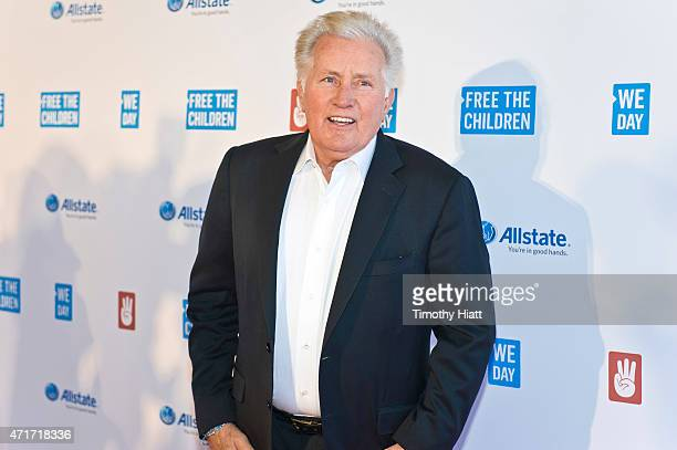 Martin Sheen attends We Day at Allstate Arena on April 30 2015 in Rosemont Illinois