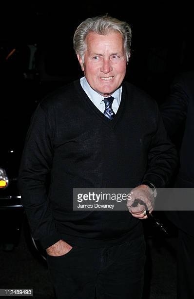 Martin Sheen during Harvey Weinstein Hosts a Private Screening of Bobby for Senators Obama and Schumer After Party at Plaza Athenee in New York City...