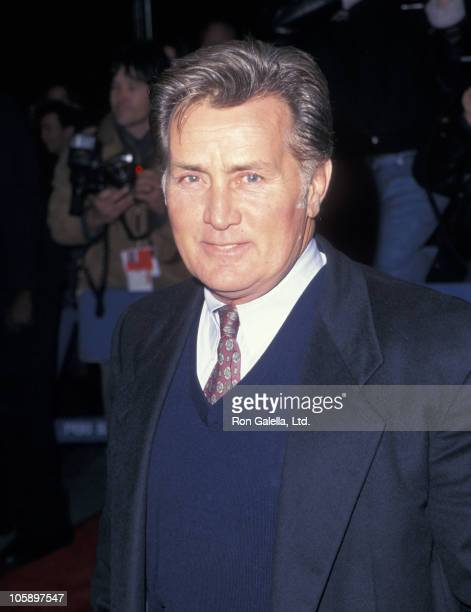 """Martin Sheen during """"The American President"""" New York City Premiere at New York Hilton Hotel in New York City, New York, United States."""