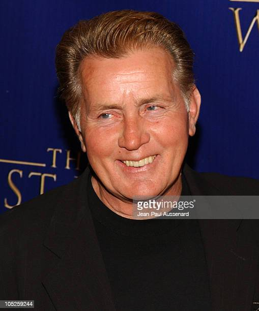 """Martin Sheen during """"The West Wing"""" 100th Episode Celebration at Four Seasons Hotel in Los Angeles, California, United States."""