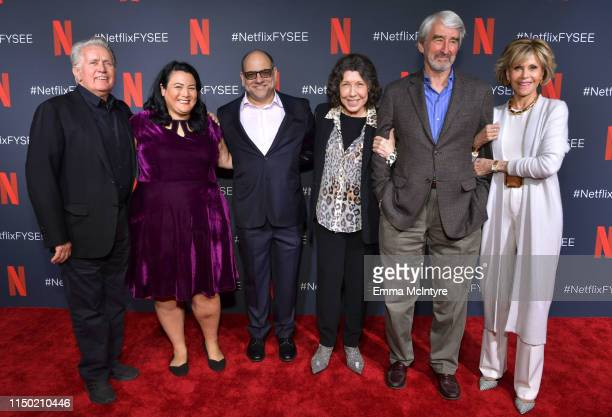 Martin Sheen Jenelle Riley Howard Morris Lily Tomlin Sam Waterston and Jane Fonda attend the Netflix FYSEE Grace and Frankie ATAS Official Red Carpet...