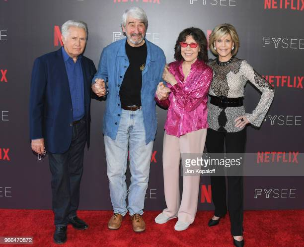 Martin Sheen Sam Waterson Lily Tomlin and Jane Fonda attend #NETFLIXFYSEE Event For Grace And Frankie at Netflix FYSEE At Raleigh Studios on June 2...