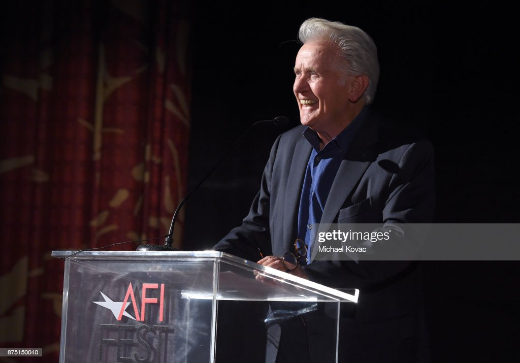 Martin Sheen speaks onstage at the screening of 'Molly's Game' at the Closing Night Gala at AFI FEST 2017 Presented By Audi on November 16, 2017 in Hollywood, California.