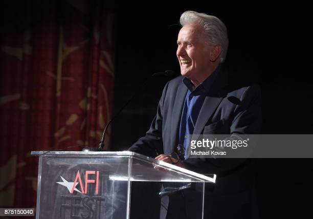 Martin Sheen speaks onstage at the screening of 'Molly's Game' at the Closing Night Gala at AFI FEST 2017 Presented By Audi on November 16 2017 in...