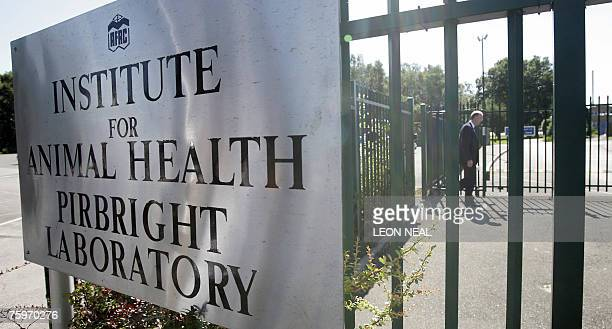 Martin Shirley director of the Institute for Animal Health Perbright Laboratory returns to the building after a press following concerns about...