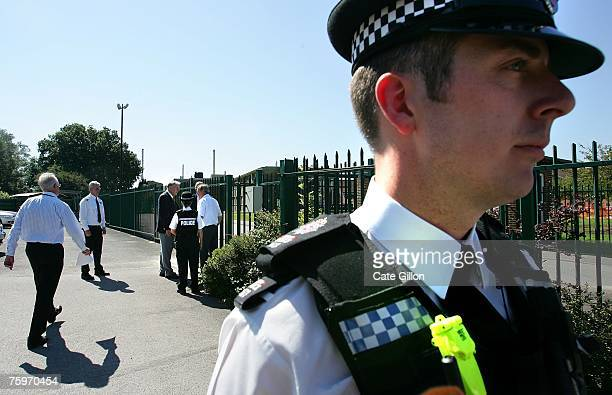 Martin Shirley the director of the Institute for Animal Health Pirbright Laboratory returns inside after taking no questions from the press on August...