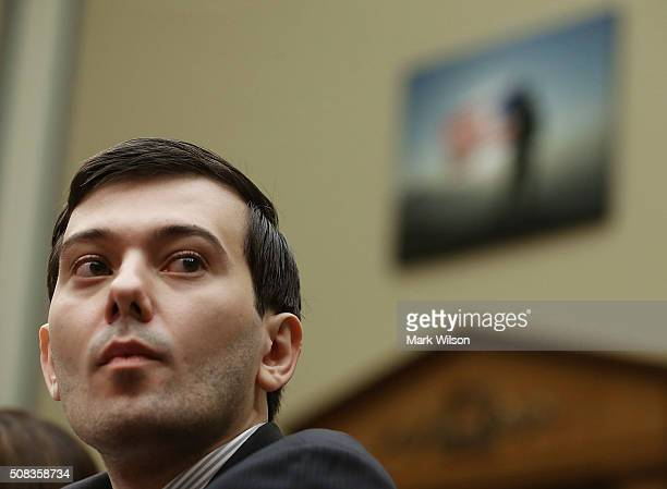 Martin Shkreli former CEO of Turing Pharmaceuticals LLC listens to questions during a House Oversight and Government Reform Committee hearing on...