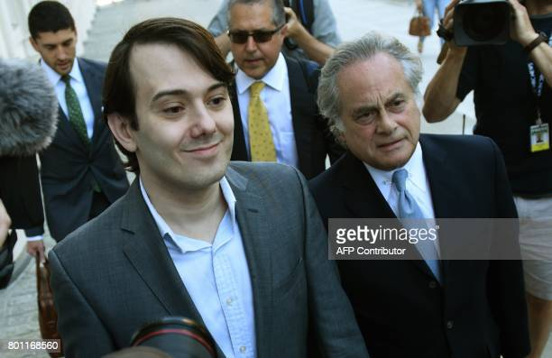 Martin Shkreli the former Turing Pharmaceuticals executive who became known as Pharma Bro arrives for the first day of jury selection in his federal...