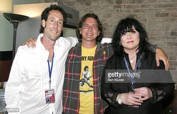 Martin Shore Eddie Vedder and Ann Wilson during 'Rock School' After Party in Seattle May 25 2005 at Seattle Neumo's in Seattle Washington United...